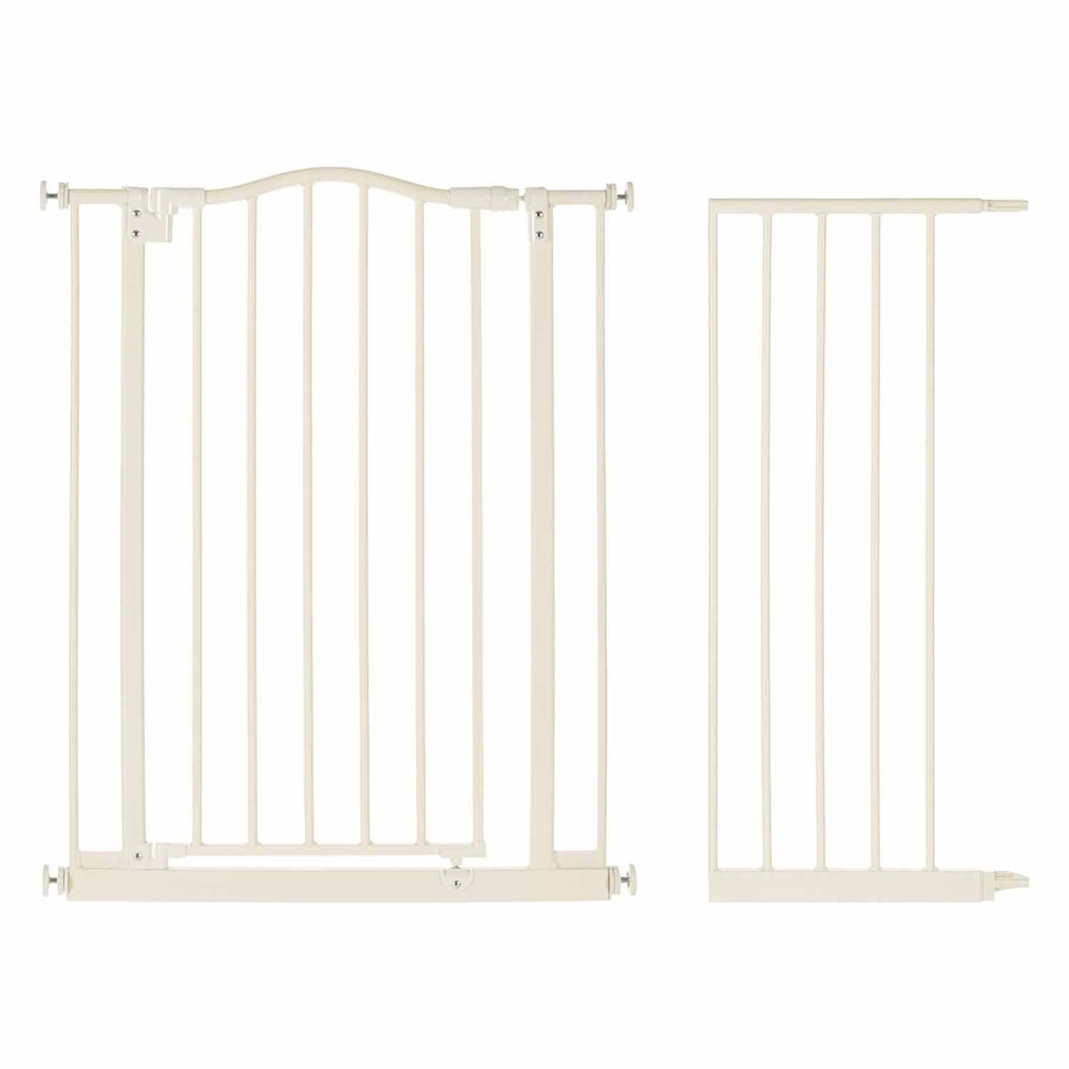 "North States Supergate Portico Arch Baby Safety Gate, Linen + 13.4"" Extension by North States"