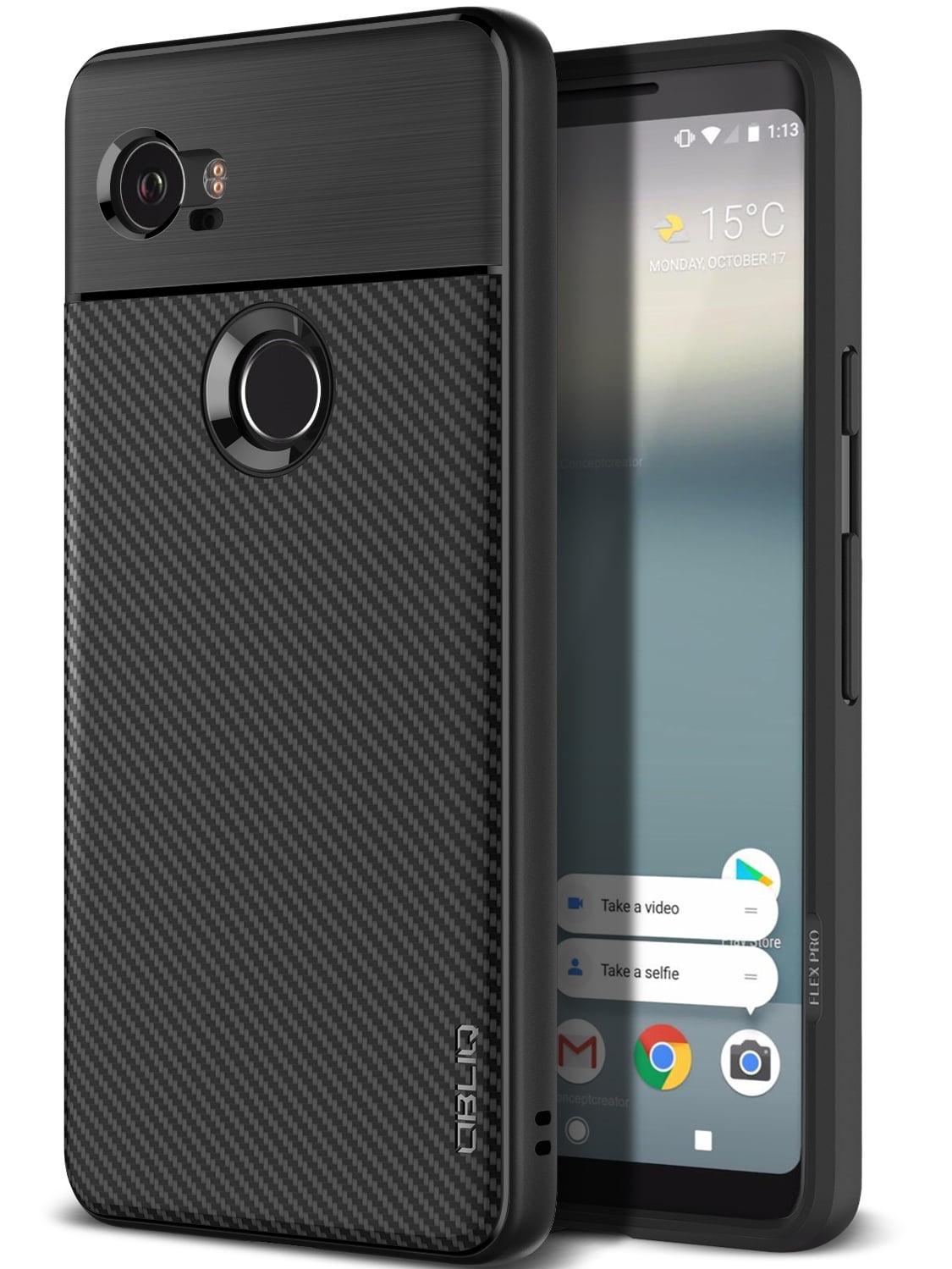 san francisco 871d9 be049 Google Pixel 2 XL Case, OBLIQ [Flex Pro] [Black] [Shock Absorption] Thin  Slim Fit Scratch Resistant Soft Grip TPU Protective Case for Google Pixel 2  ...