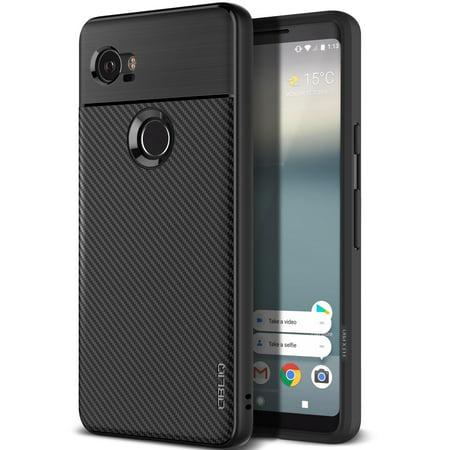 Google Pixel 2 XL Case, OBLIQ [Flex Pro] [Black] [Shock Absorption] Thin Slim Fit Scratch Resistant Soft Grip TPU Protective Case for Google Pixel 2 XL 2017 (Black Sock Case)