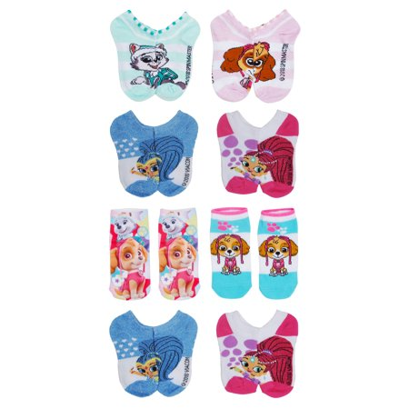 Toddler Girls Shimmer Amp Shine Paw Patrol Ankle Socks 8