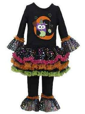 f762db4b8f9 Product Image Bonnie Jean Girls Halloween Owl on Moon Black Tutu Fall  Legging Set 24 Months