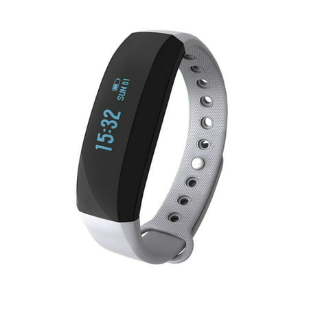 V2 Smart Wristband All-weather Heart Rate Monitor Real-time GPS Sports Trail Intelligent Reminder Wristbands for iOS android (Wrist Heart Rate Monitor Gps)