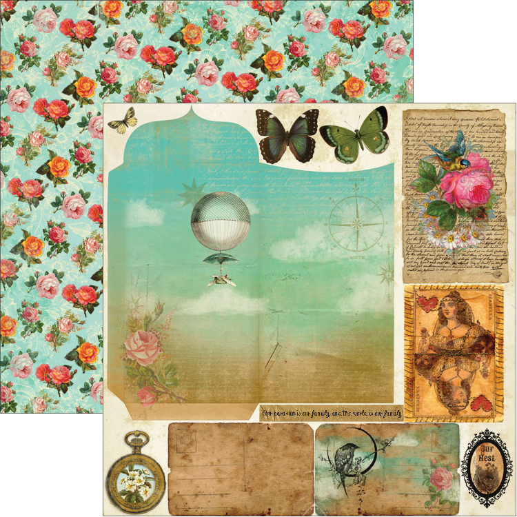 """Junque Gypsy Double-Sided Cardstock 12""""X12""""-Faux Pas"""