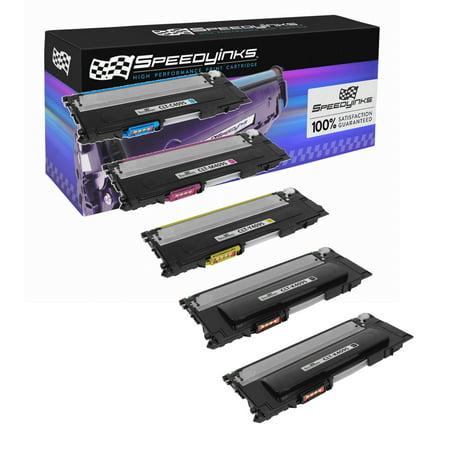 Clp 510d5c Cyan Laser - Compatible for Samsung CLP-315 CLP315 Set of 5 Laser Toner Cartridges: 2x CLT-K409S Black, 1ea CLT-C409S Cyan, CLT-M409S Magenta, & CLT-Y409S For use in CLP-310, CLP-310N, CLP-315
