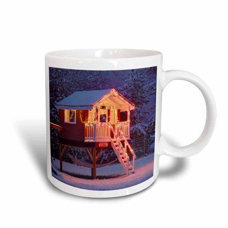 3dRose Playhouse in Winter snow, Louisville, Kentucky - US18 AJE0451 - Adam Jones, Ceramic Mug, 15-ounce