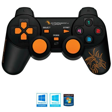 Dragonwar Shock Ultimate 17 Key Wired Computer Game Controller Gamepad With Full Vibration For Pc  Compatible With Windows 10  Updated Model