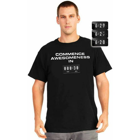 Commence Awesomeness Countdown T-Shirt Men's Adult Halloween Costume](Halloween Count Down)