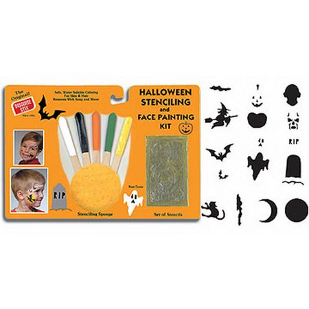 HALLOWEEN STENCILING & FACE PAINTING KIT - Female Face Painting For Halloween