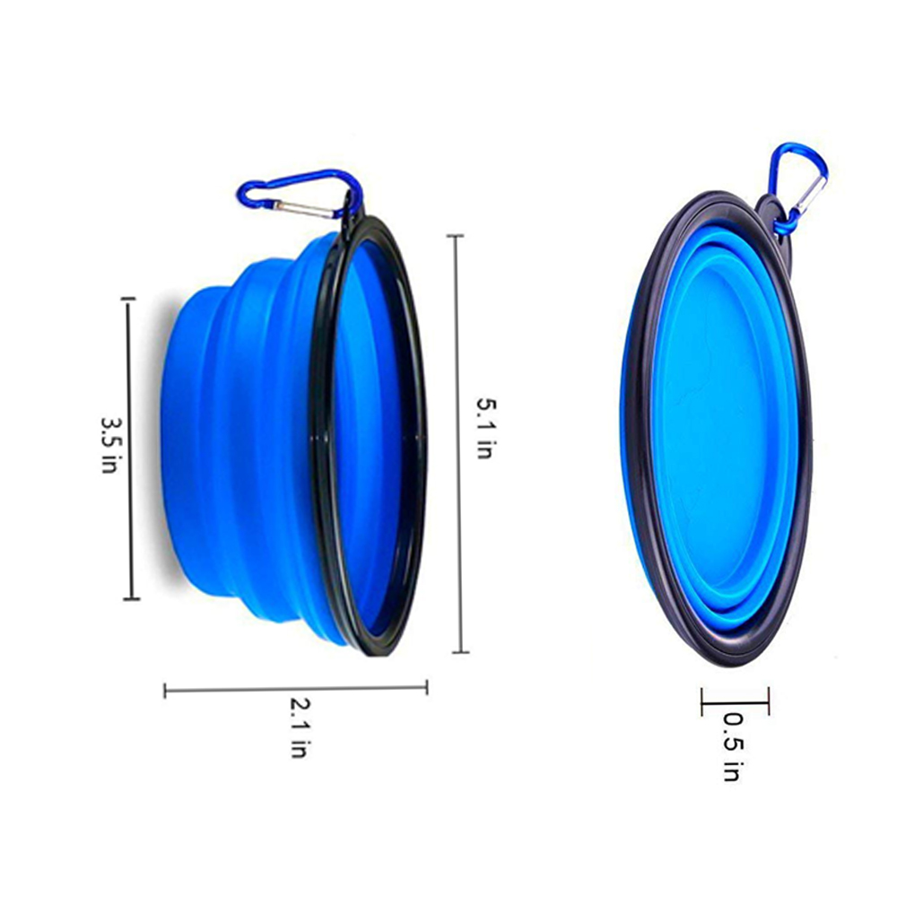 2bdac1c3464f Xelparuc 2 Pcs Collapsible Dog Bowl with 2 Carabiners, Small ...