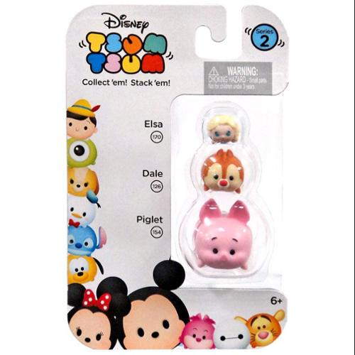 Disney Tsum Tsum 3 Pack Series 2 Figures - Elsa, Dale and Piglet