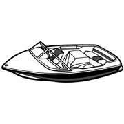 "Carver Styled-to-Fit Tournament Ski Boat Cover - 20'6"" Length, 90"" Width"