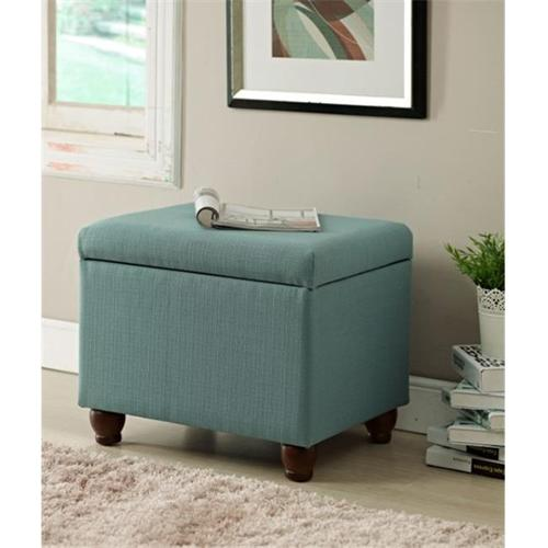 Kinfine K6377-F1374 Aqua Textured Medium Storage Bench by Kinfine