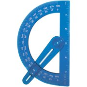 """Plastic Protractor With Swing Arm-6"""""""