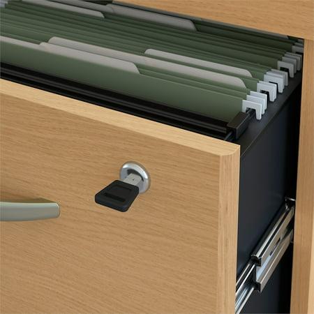 Bush Business Series C 2 Drawer Mobile File Cabinet In Light Oak