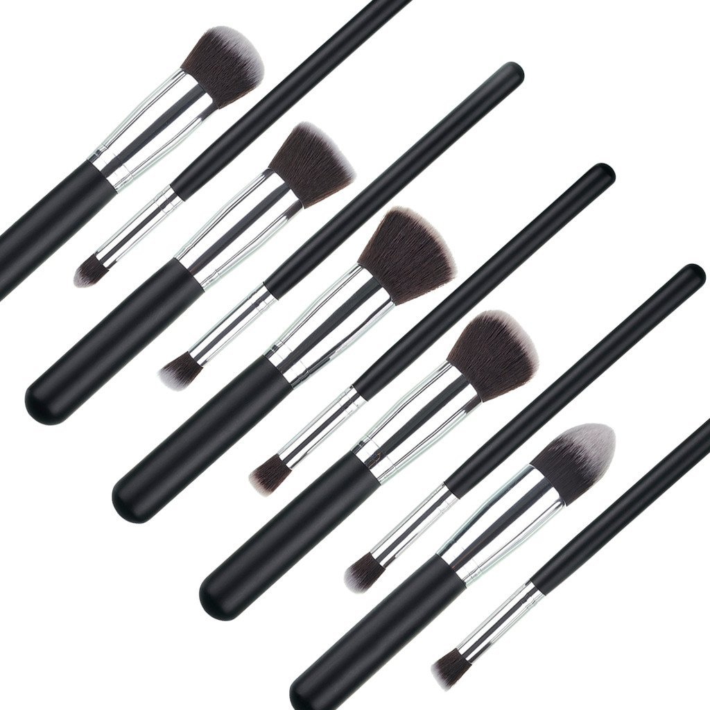 CoastaCloud 10pcs Professional Makeup Set Brushes Tools Various Colors