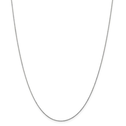 14K .70mm White Gold 16in Round Anchor Cable Necklace Chain