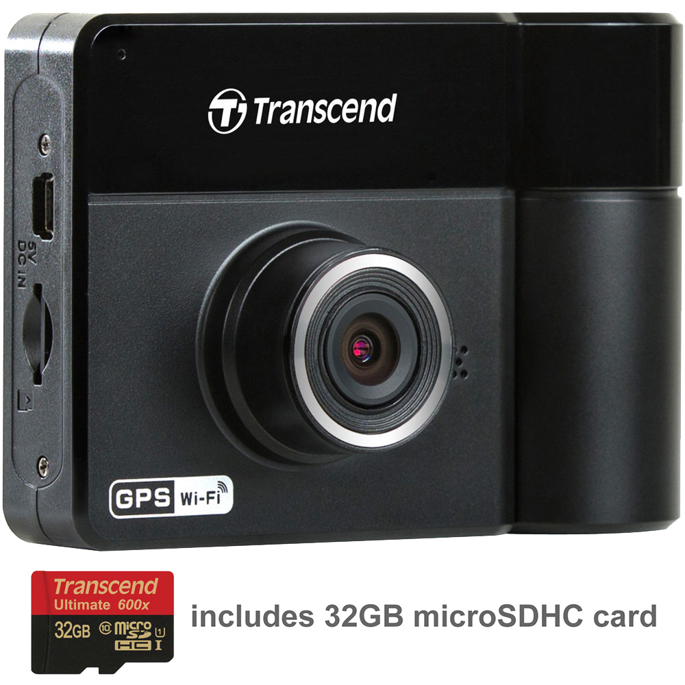 Transcend DrivePro 520 1080p HD GPS Wi-Fi Car Dashboard Video Recorder with Suction Cup