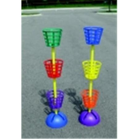 Pull Buoy Multi-Dome Basket Toss, Set 6 Baskets & 2