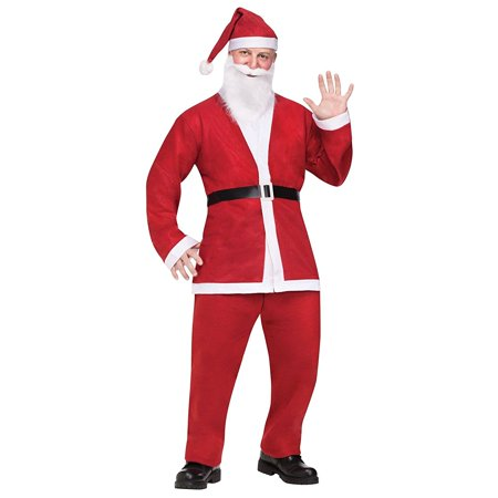 Santa Pub Crawl Adult Costume - One - Biker Santa Costume