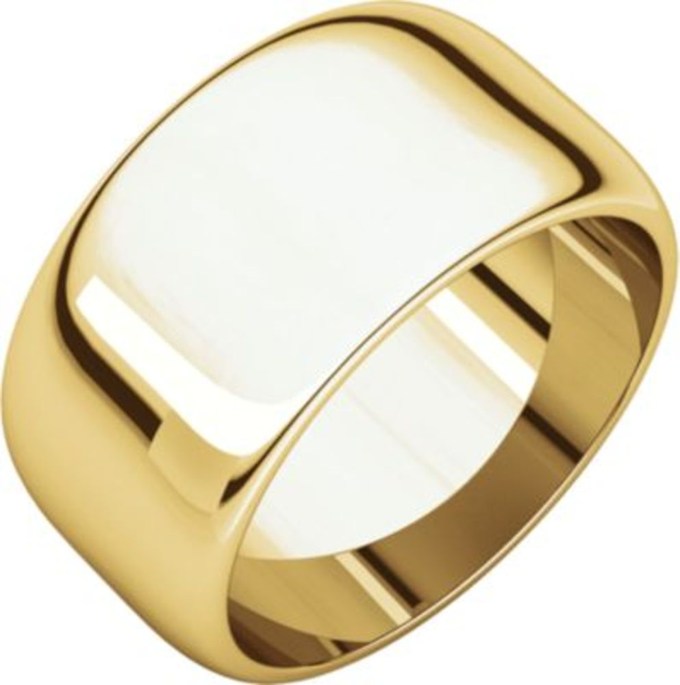 10mm Half Round Band in 14k Yellow Gold - Size 12.5