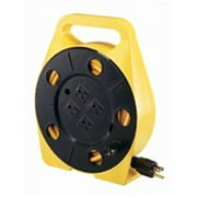 Power Zone PZ-755 25 Ft. 4 Outlet 16 By 3 Cord Reel