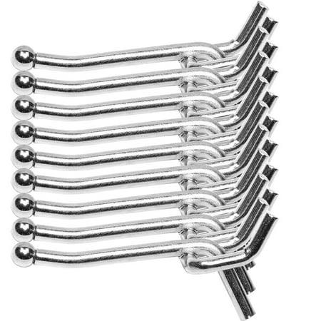 Heavy Duty Metal Peg Board Shelving Hooks 30Lbs 1/4-inch