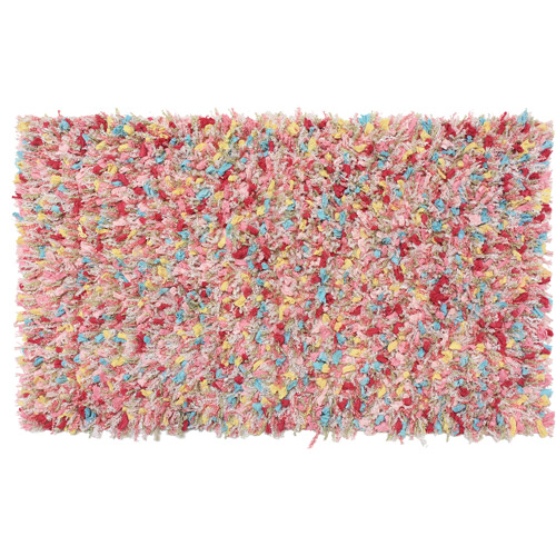 your zone Scatter Textile Rug, Glitter Shag, 2' x 3'6""