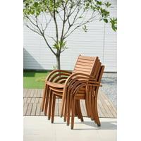 Amazonia Carolina Eucalyptus Wood Outdoor Chairs, Set of 4