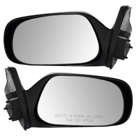 Driver and Passenger Manual Side View Mirror Replacement for Toyota 879401A770 8791001021 - Mirror Drivers Side Chrome Manual