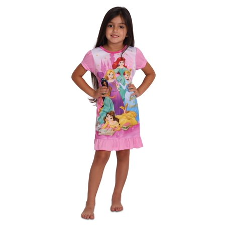 Disney Princess Girls' Believe In Yourself Nightgown, Pink, Size: 4 - Disney Princess Dressing Gowns