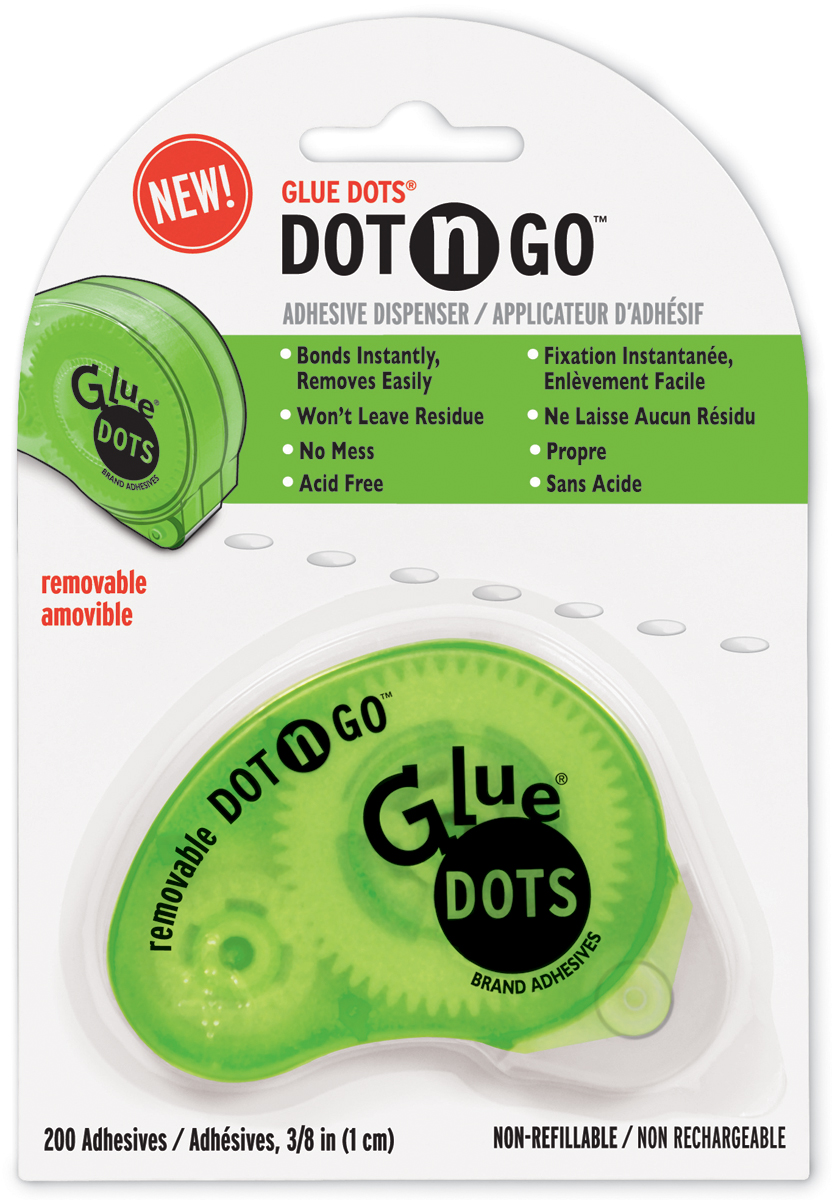 "Glue Dots .375"" Removable Dot Disposable Dispenser"