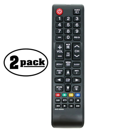 2-Pack Replacement PN64F5300 HDTV Remote Control for Samsung TV - Compatible with AA59-00666A Samsung TV Remote Control - image 3 de 3