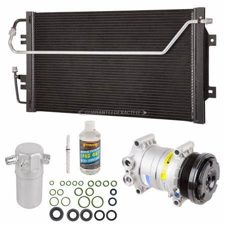 A/C Kit w/ AC Compressor Condenser Drier For Chevy Astro GMC Safari - Gmc Safari A/c Condenser