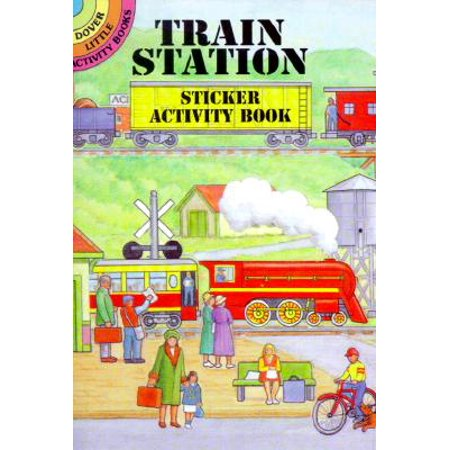 Train Station Sticker Activity Book (Paperback)](Halloween Color And Activity Book)