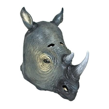 Rhino Halloween Mask Animal Adult Costumes (Rhino Costume)