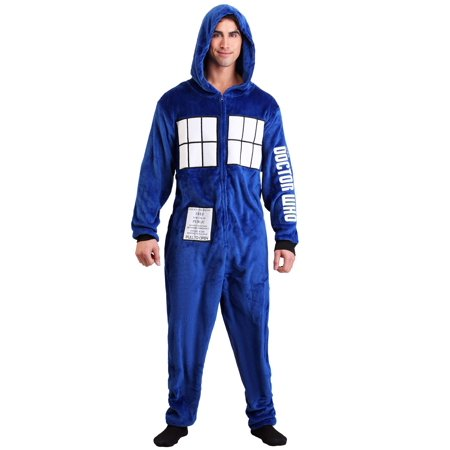 Doctor Who Adult Tardis Union Suit - All In One Suits For Adults