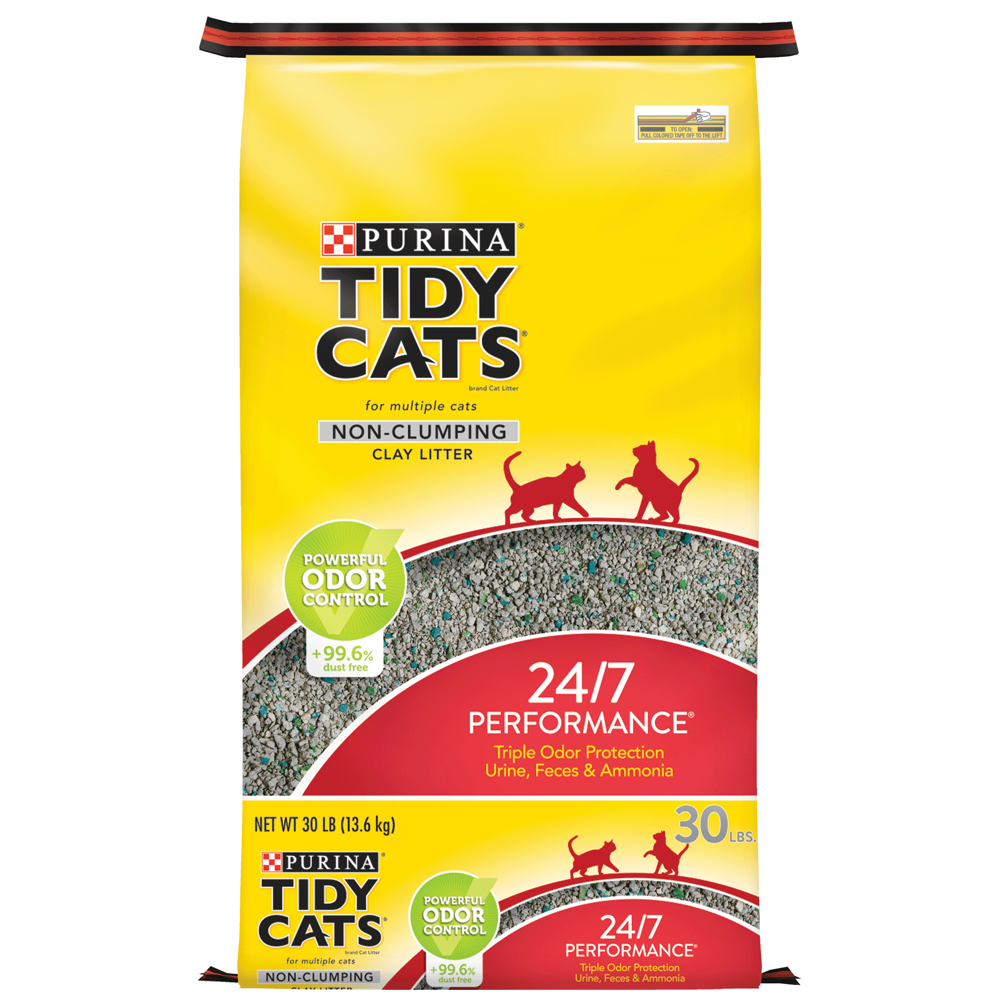 Purina Tidy Cats 24/7 Performance for Multiple Cats Non-Clumping Cat Litter, 30-lb