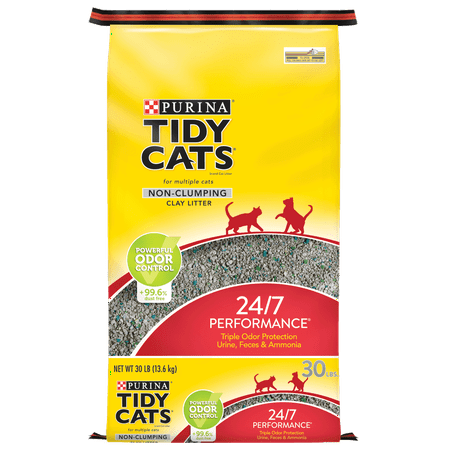Purina Tidy Cats Non Clumping Cat Litter, 24/7 Performance Multi Cat Litter - 30 lb. (Best Kitty Litter Box For Odor Control)