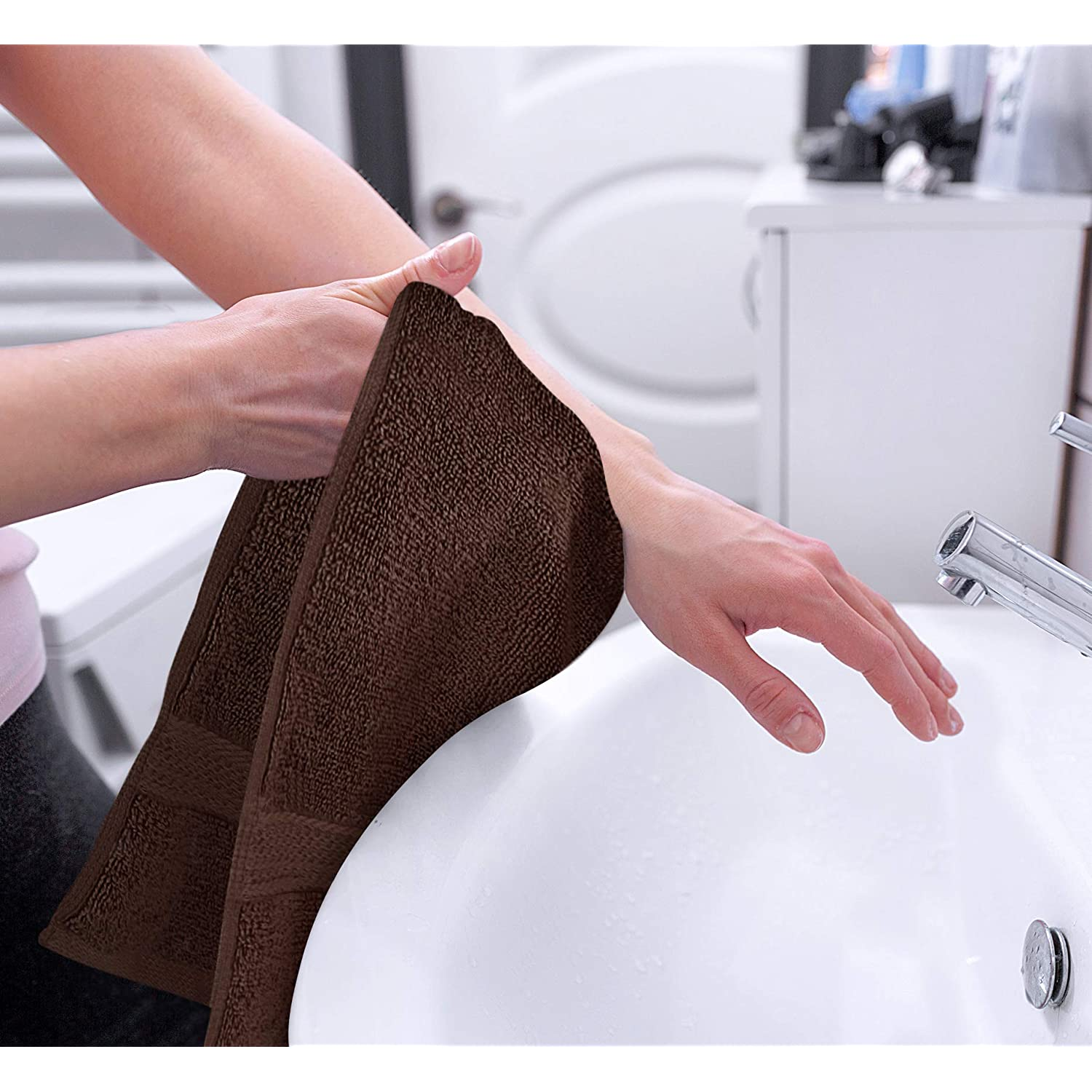 Hotel /& Spa Quality Hand Towels 6-Pack Utopia Towels Premium Dark Brown Hand Towels 100/% Combed Ring Spun Cotton Ultra Soft and Highly Absorbent 700 GSM Exrta Large Hand Towels 16 x 28 inches