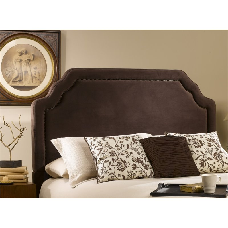 Hillsdale Carlyle Upholstered Full Queen Panel Headboard in Brown
