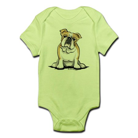 CafePress - Cute English Bulldog Infant Bodysuit - Baby Light Bodysuit
