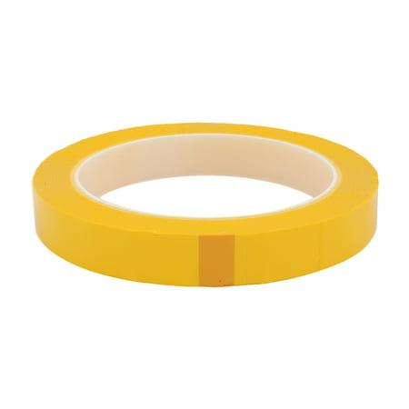 15mm Width 66M Length Single-side Position Sign Sticker Marking Dark Yellow - image 1 de 2