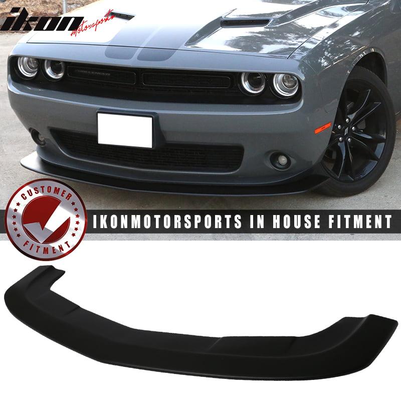 Fits 15-18 Dodge Challenger SXT Style Front Bumper Lip Black Primer PP