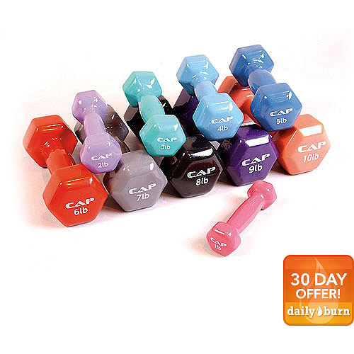 CAP Barbell Vinyl Coated Dumbbell, Single