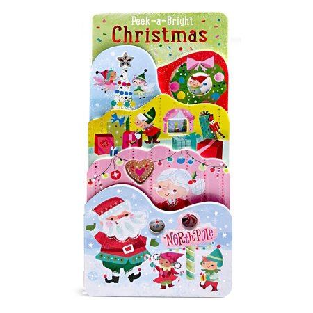 Peek-A-Bright Christmas: Tall Tiered Board Book (Board Book) ()