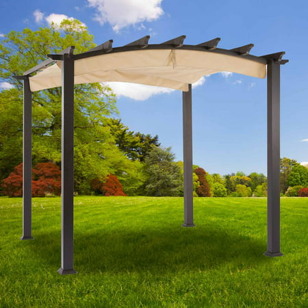 Garden Winds Replacement Canopy Top for Hampton Bay Arched Pergola - Riplock