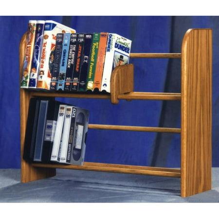 Wood Shed 200 Series 80 Dvd Dowel Multimedia Tabletop Storage Rack