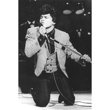 James Brown 24X36 Poster Classic In Concert kneeling on stage singing