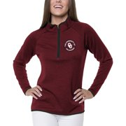 Women's Heathered Crimson Oklahoma Sooners Double Ring 1/4-Zip Jacket