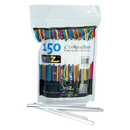 CUL Distributors LolliZ Lollipop Sticks in Re-Sealable Bag (Set of 150)